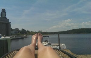 Relaxing in Shad Bay