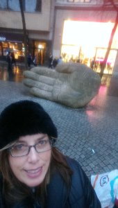Me and the Hand in Antwerp