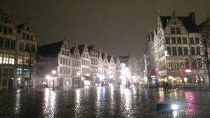 Walking in the Rain in Antwerp