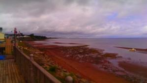 Low tide heather beach